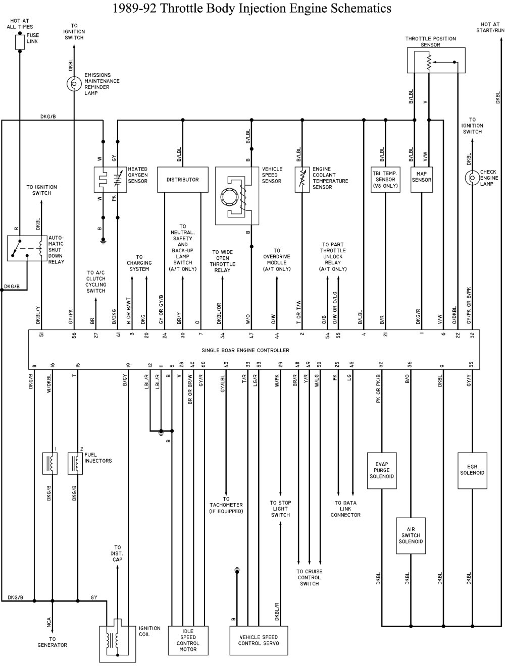 Dodge B250 Ram Van Wagon 52l 318ci Repair Color Wire Diagram 1990 Legacy Sbec Pinout Schematic